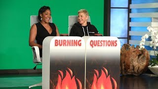 Tiffany Haddish Answers Ellen's 'Burning Questions' - Part 1