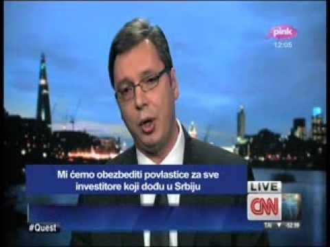 Aleksandar Vučić intervju CNN sa prevodom 20.02.2014
