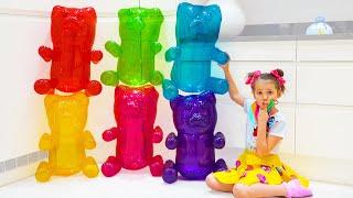 Katy y Max su desafío en casa misteriosa con ositos de gelatina