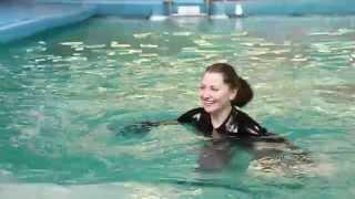 Ярославский дельфинарий  Купание с дельфинами(С автором ролика можно связаться по адресу: http://vk.com/leshka_chelovek., 2014-03-26T11:49:04.000Z)