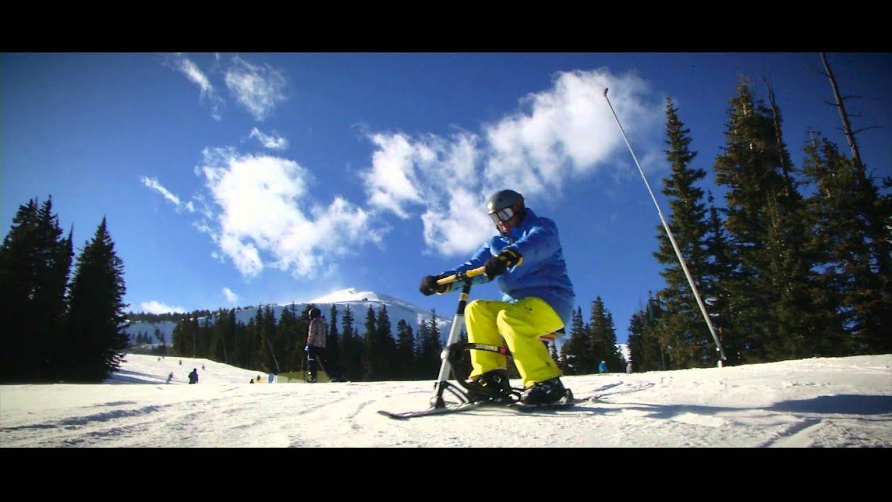 Snowbike lesson - YouTube