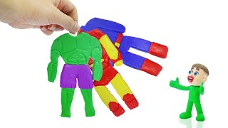 KIDS CHOOSES SUPERHERO SUITS 💟 LIVE Stop Motion Animation For Babies