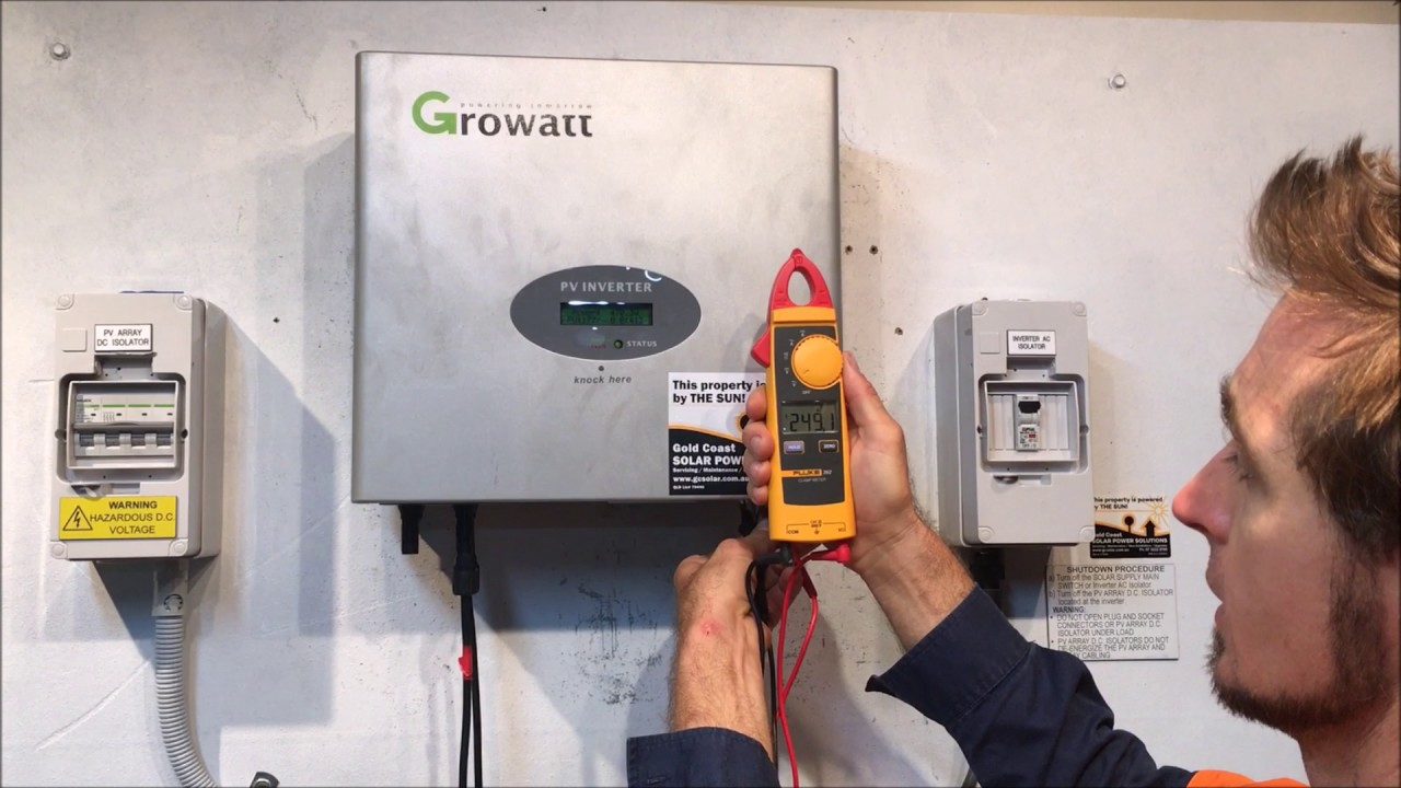 Growatt Solar Inverter AC V Outrange - Gold Coast Solar