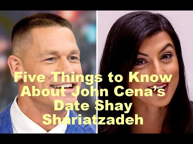 5 Things to Know About John Cena's Date Shay Shariatzadeh   WWE
