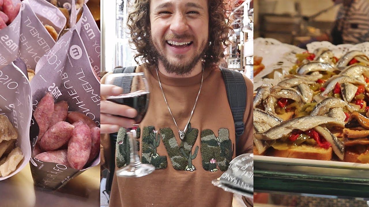 Probando comida de mercado MUY BARATA en España!