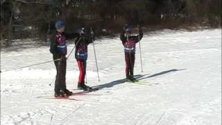 Youth XC ski instruction 5:  Skate progression: drills for V2 and V2-alternate
