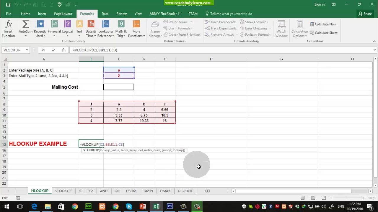 How to write a vlookup formula in excel 2003