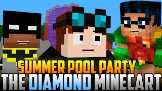 Minecraft Pool Party: The Diamond Minecart Joins Batman & Robin!