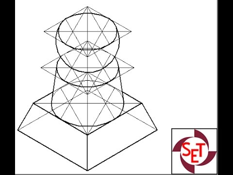 Isometric view of combination of solids using Solid Edge