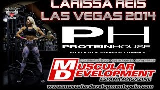Larissa Reis & Sergio Fdez coach for Muscular Development Spain - Las Vegas 2014
