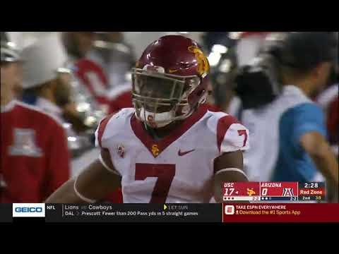 Football: USC 24, Arizona 20 - Highlights 09/29/18