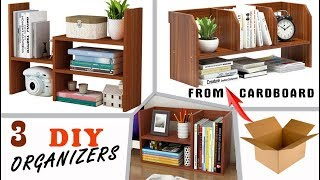 3 MOST FASTEST DESIGN DIY ORGANIZERS FROM CARDBOX // table shelves You Can Easy Do