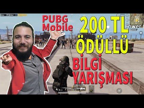 ÖDÜL 200TL! PUBG Mobile BİLGİ YARIŞMASI!  BİLEMEZSEN ÖLÜRSÜN!