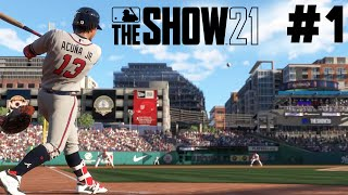 MLB The Show 21 PS5 Road to the Show Gameplay Walkthrough - FIRST MATCH