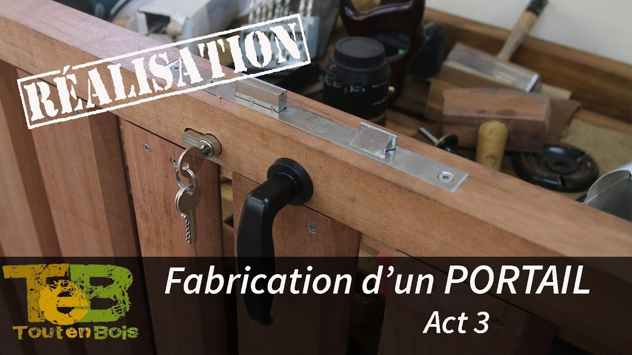 travail du bois la fabrication d 39 un portail en bois act 3 youtube. Black Bedroom Furniture Sets. Home Design Ideas