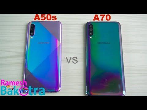 Samsung Galaxy A50s Vs Galaxy A70 SpeedTest And Camera Comparison