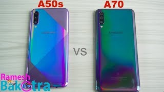 Samsung Galaxy A50s vs Galaxy A70 SpeedTest and Camera Comparison