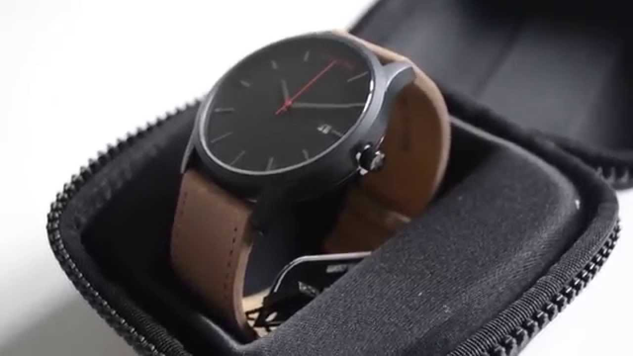 Mvmt Uhren Mvmt Watches Watch Black Tan Uhr Schwarz Naturleder Unboxing Review