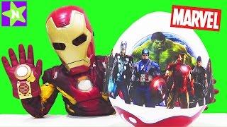 Marvel 2017. Большое яйцо Марвел GIANT EGG SURPRISE  Hulk, Captain America, Weeble качается