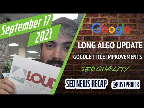 Search News: Google Long Ranking Update, Title Improvements, SEO & Quality & More - YouTube