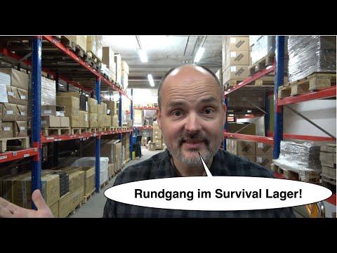 Im Lager mit Reini Rossmann | Lagerrundgang im Survival Shop