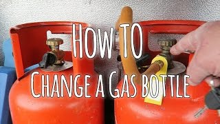 How to  replace a gas bottle in a caravan