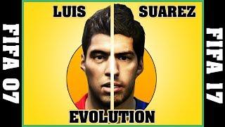 LUIS SUAREZ evolution [FIFA 07 - FIFA 17] ⚽