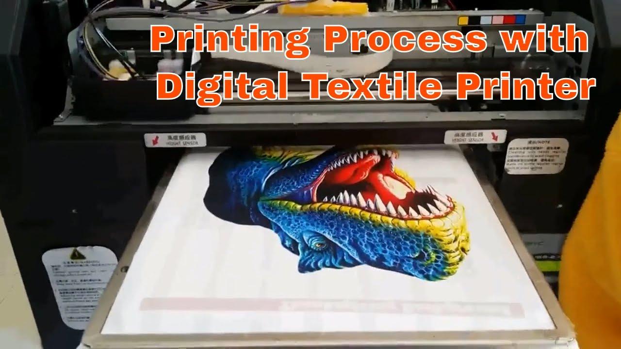Digital T Shirt Printing Machine Ii Printing Process And Price In India Bangladesh Youtube