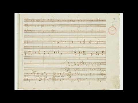 """Mozart: Don Giovanni - Finale I Atto 2/3 - """"Bisogna Aver Coraggio"""" - Autograph Manuscript"""