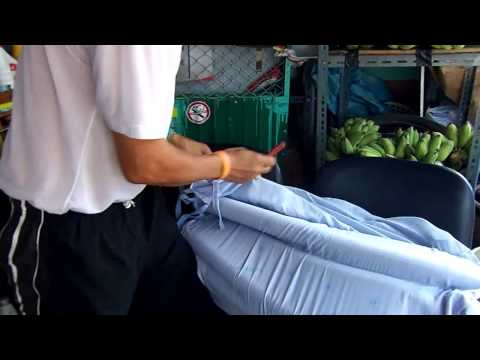 งานนวตกรรมที่นอนลมทำจากยางในรถจักรยานยนต์-รพ.สต.สหกรณ์หนองเสือ