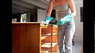 Furniture refinishing. staining wood.