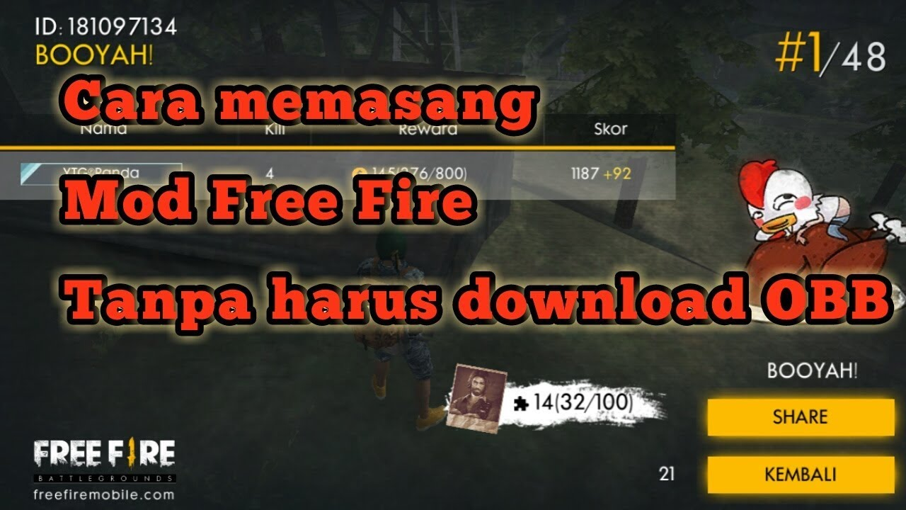 Cara Memasang Mod Free Fire Tanpa Download File Obb Youtube
