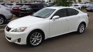 Lexus Certified Pre Owned White 2012 IS 250 6 Speed Manual RWD - St. Albert, Edmonton