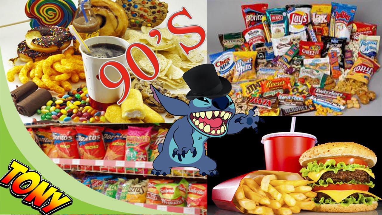 comidas chatarra de los 90s quizas recuerdes  YouTube