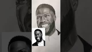 Tiktok art amazing skills #3 drawing Kevin Hart with graphite pencil screenshot 5