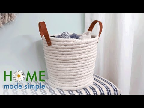 DIY Coil Rope Basket | Home Made Simple | Oprah Winfrey Network