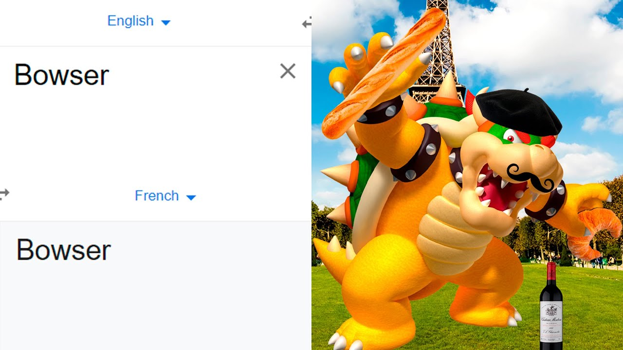 Download Bowser in different languages meme