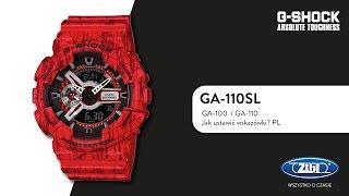 G-SHOCK GA-100 GA-110 jak ustawić wskazówki PL