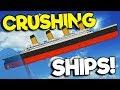 CRUSHING THE TITANIC WITH A TSUNAMI! - Sinking Simulator 2 Gameplay