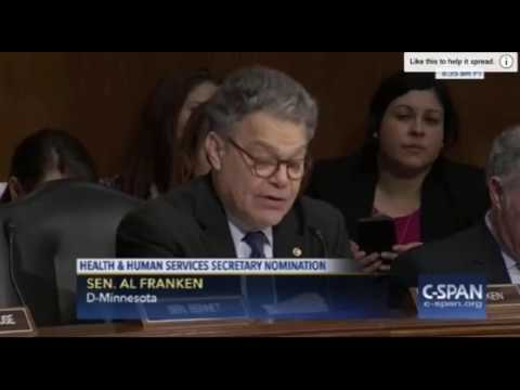 Hypocrite Al Franken Criticizes Tom Price For Owning Tobacco Stocks That He Also Owns