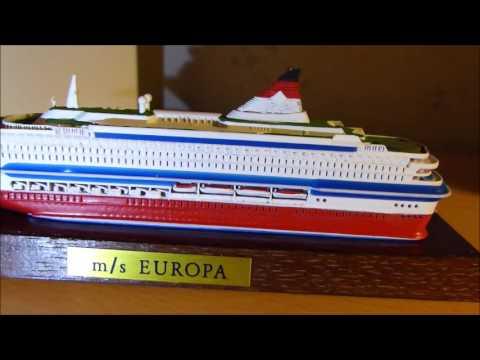ms europa viking line Silja Europa ship model rare