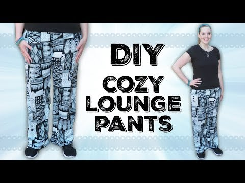 DIY Easy Lounge/Pajama Pants | How to Sew Stretch Fabric