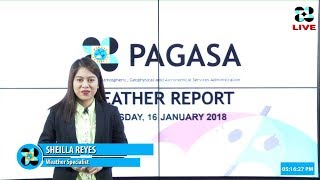 Public Weather Forecast Issued at 4:00 PM January 16, 2018