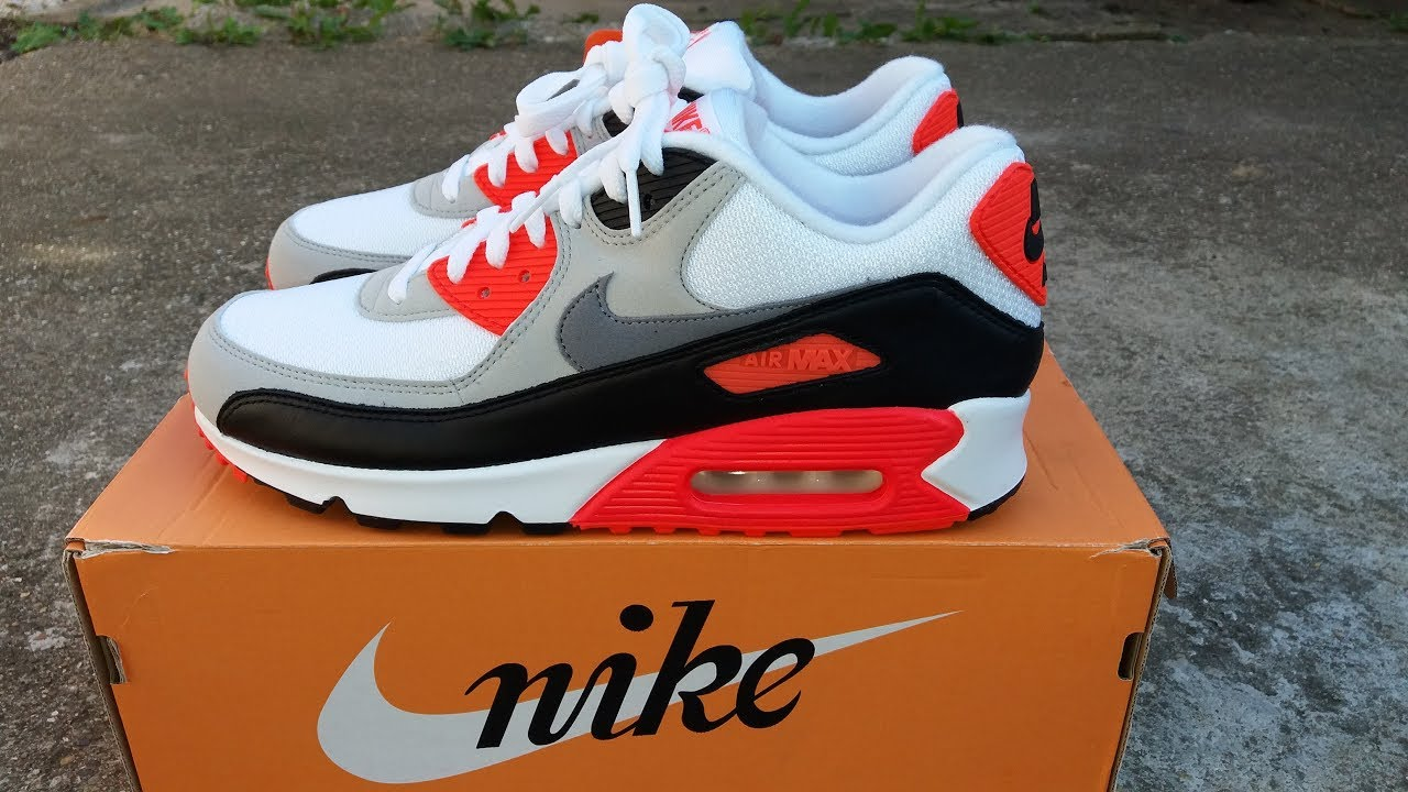 Nike Air Max 90 OG Infrared 2015 Unboxed and on Feet