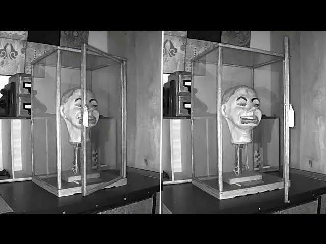 Un video muestra el aterrador momento en el que un muñeco ventrílocuo nazi parpadea y mueve la boca