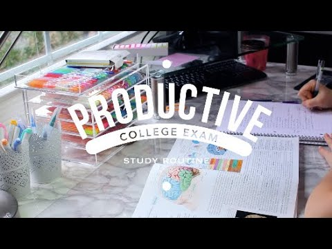 productive college exam study routine // study with me
