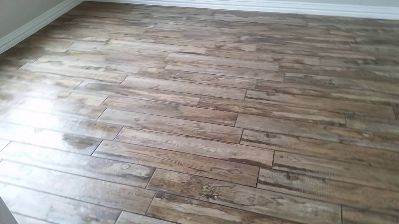 Wood Look Tile Installation by HOUSTON TILE WORKS - Wood Look Tile Installation By HOUSTON TILE WORKS - YouTube