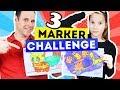 3 MARKER CHALLENGE | Coloreando con Rotuladores | Daniela Golubeva