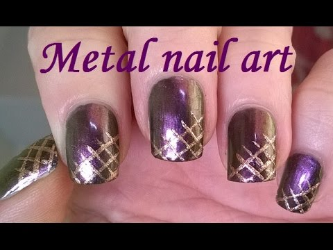 Metal holo nail art elegant metallic copper purple gold nails metal holo nail art elegant metallic copper purple gold nails youtube prinsesfo Choice Image