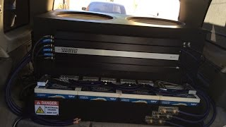 98 complete 4 xs power batteries wired up toolmaker terminals inputs installed